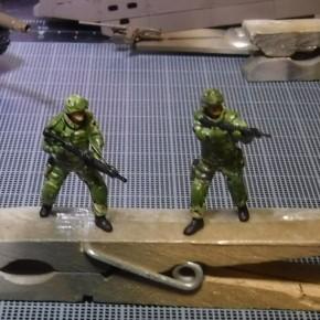 迷彩服3型 塗装方法の研究 武装