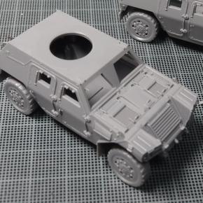 フジミ 1/72 軽装甲機動車(中隊長車/機関銃搭載車)②
