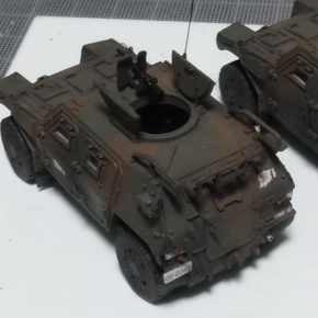 フジミ 1/72 軽装甲機動車(中隊長車/機関銃搭載車)③