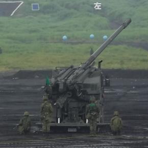 19式装輪155mm自走榴弾砲@R1総火演