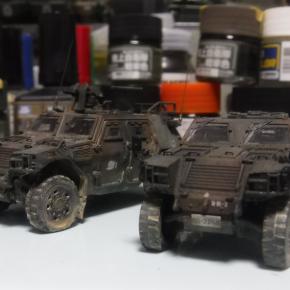 フジミ 1/72 軽装甲機動車(中隊長車/機関銃搭載車)④