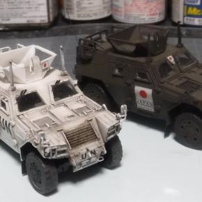 フジミ 1/72 軽装甲機動車(国教隊)③